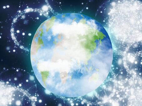 閃閃發光的地球