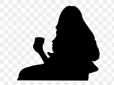 影子咖啡廳的女人