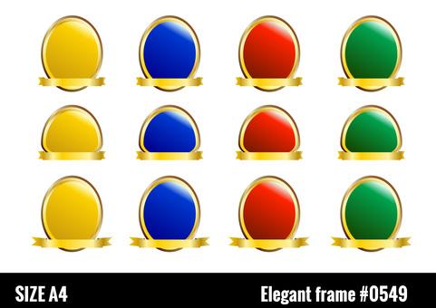 Elegant jewel-like gold frame