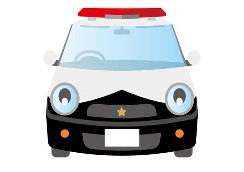 Police car compact car car