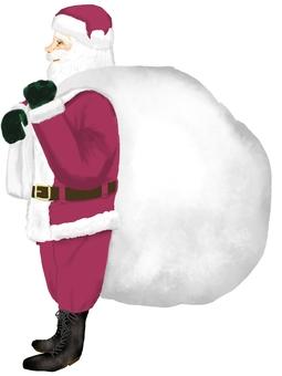 拿著禮物的聖誕老人
