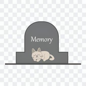 ペットのお墓のイメージ(猫)