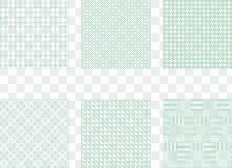 簡單的綠色圖案(透明背景)