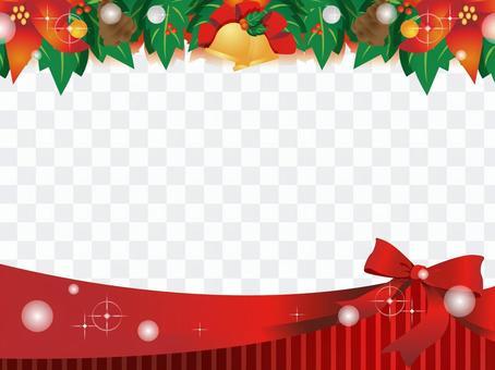 圣诞节丝带装饰框架