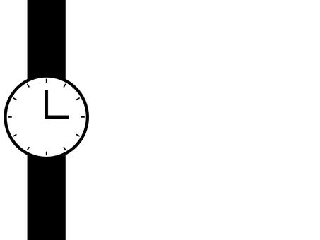 簡單的手錶圖標:白色:12 級