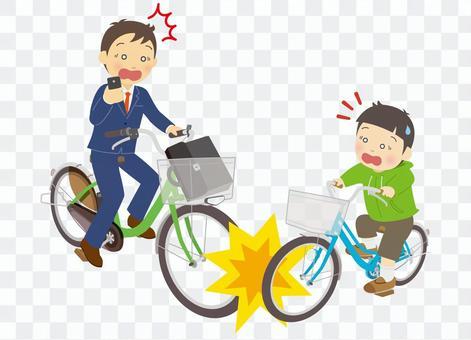 自転車同士の接触事故
