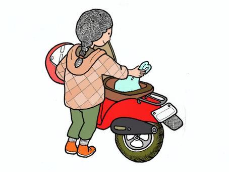 騎摩托車購物