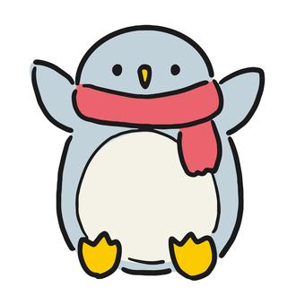 紅圍巾企鵝