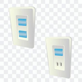 有蓋插座(藍色)