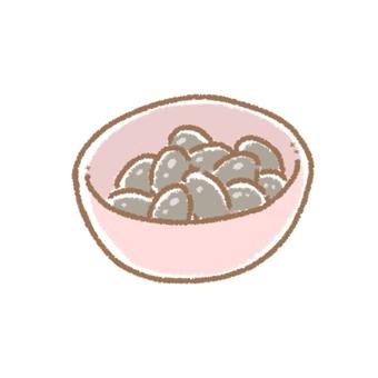 Boiled beans (black beans)