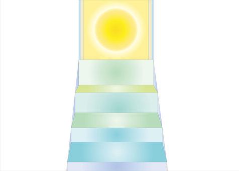 太陽に向かう階段