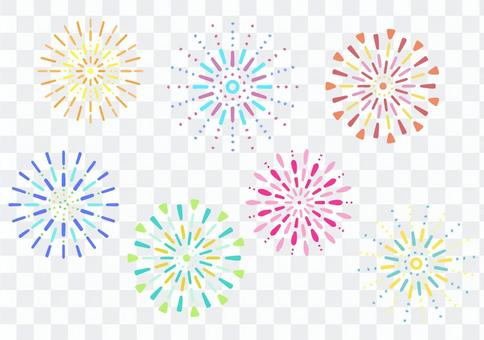 Fireworks summer material set