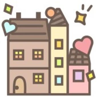 房子可愛柔和的插圖建築