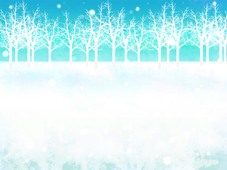 冬林雪景框(白天)