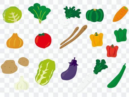 蔬菜集手寫風格1