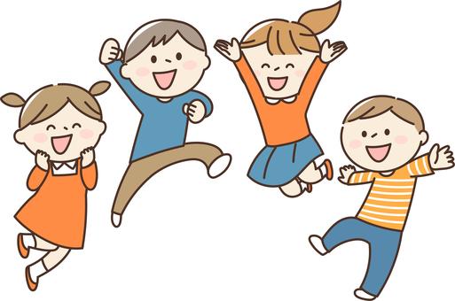 건강하게 점프하는 아이들