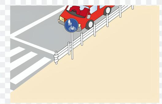 人行橫道和汽車