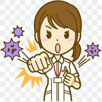 女性(看護師):A_風邪対策01BS