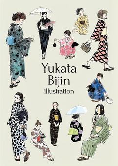 Yukata beauty illustration