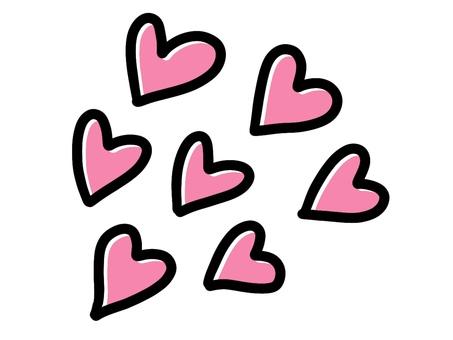 하트 핑크 많음 漫符