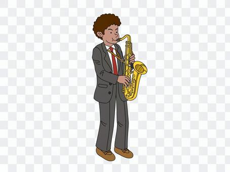 吹薩克斯管的那個人