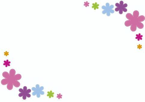 Flower applique frame