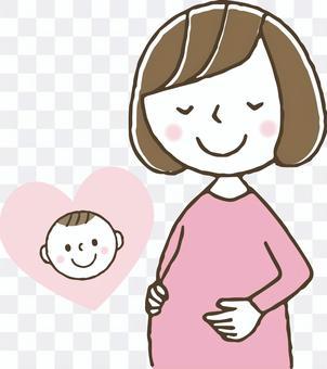 Pregnancy / pregnant woman / cute woman / baby