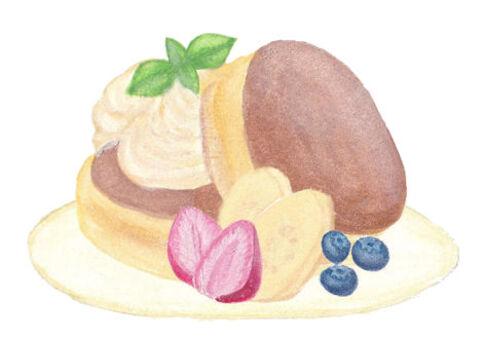 パンケーキ(フルーツ添え)