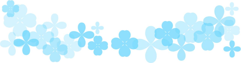 水色の花のライン