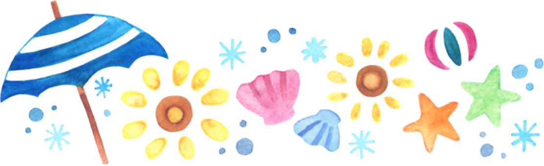 Illustration of a summer motif