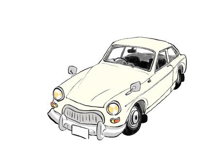 復古白色車