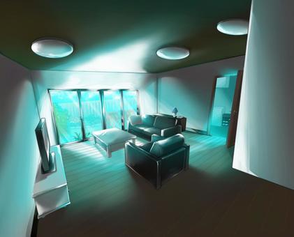 Living room for background