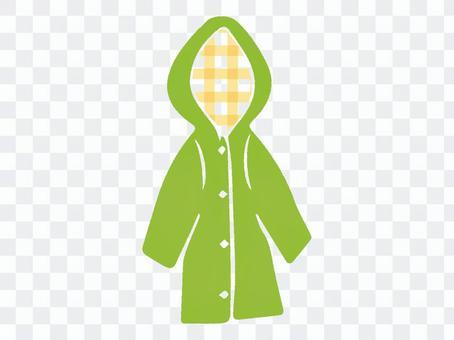 雨衣黃綠色