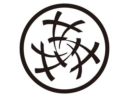 Three-way sharp in a circle