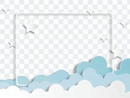 天空和雲彩frame_morning