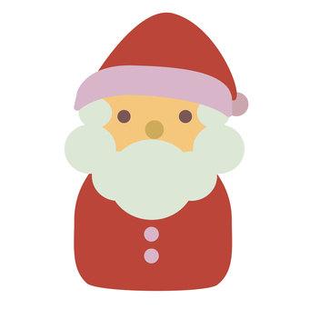可愛的聖誕老人的插圖