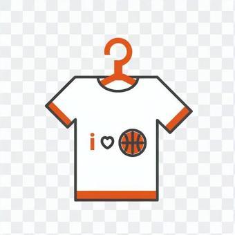 アイラブバスケのTシャツ