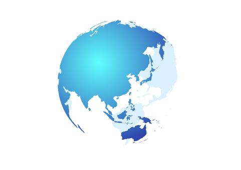 藍色數字網絡地球背景