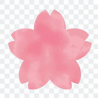 Sakura watercolor icon / frame 4