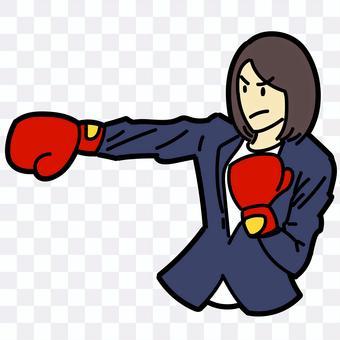 手勢女拳擊手套