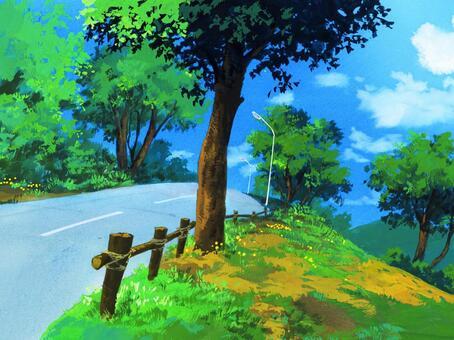 Street road tree