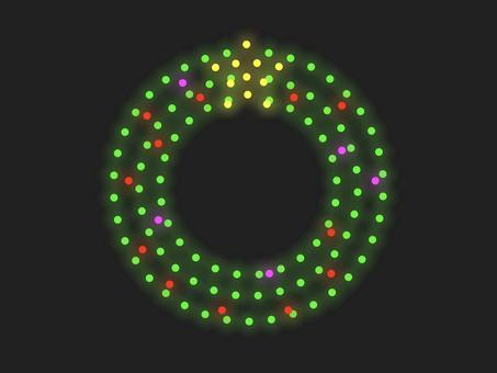 聖誕花環照明材料