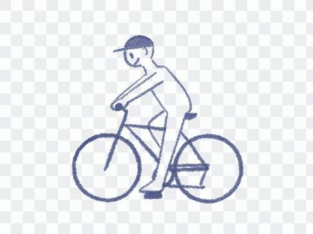 サイクリングのイラスト
