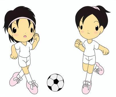 足球女孩通过