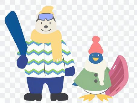 北極熊和企鵝2