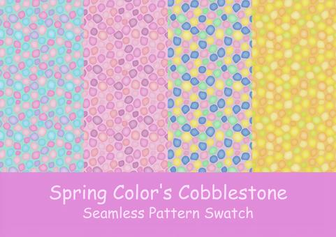 Candy pop spring color cobblestone pattern set