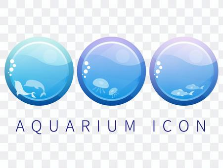 Aquarium-style icon