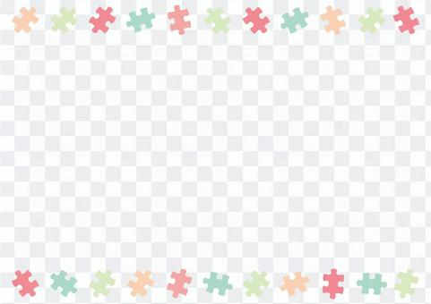 パズルピースの飾り罫03