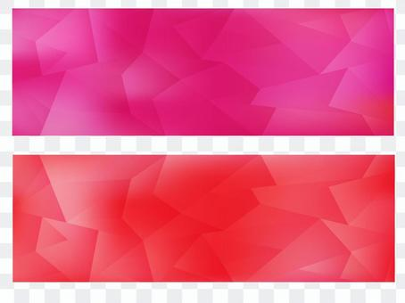 幾何圖案標題紅色