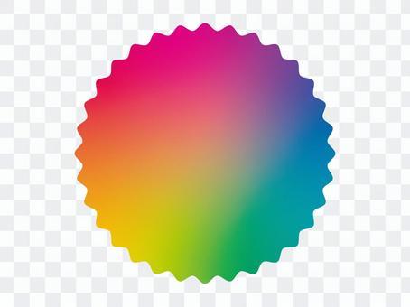 虹色のギザギザフレーム